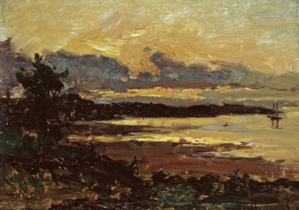 Sunset at Manchester, Massachusetts Metcalf, Willard Leory 90491