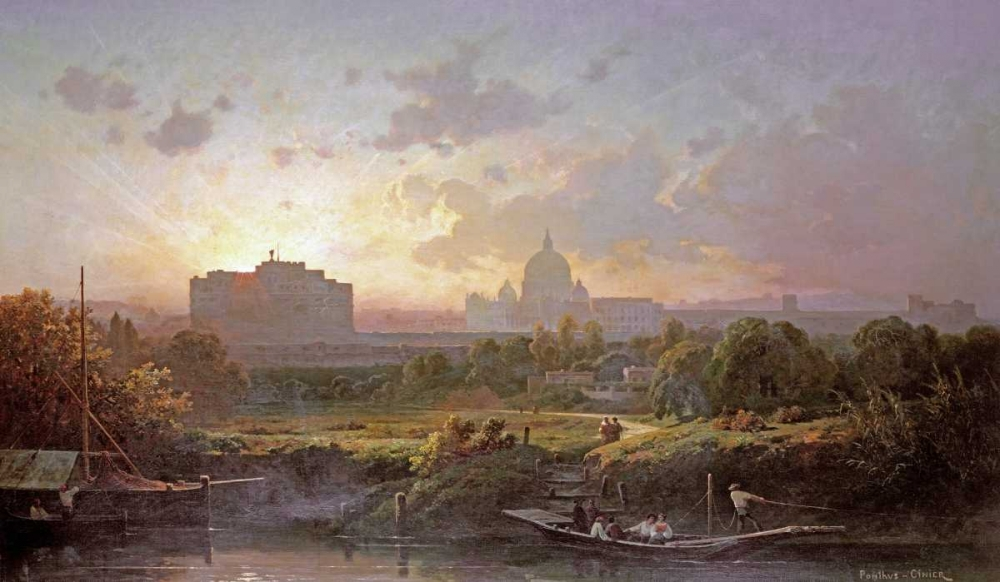 View of Rome at Sunset Ponthus-Cinier, Antoine 90540