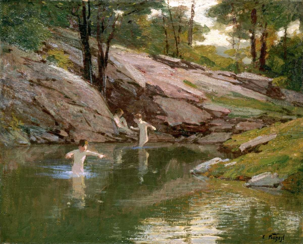 The Swimming Hole Potthast, Edward Henry 90547