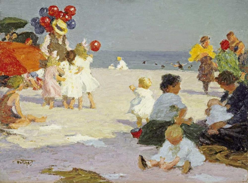 On The Beach Potthast, Edward Henry 90556