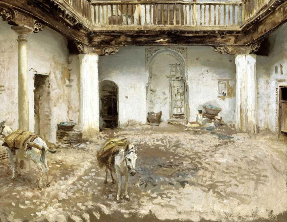 Moorish Courtyard Sargent, John Singer 90602