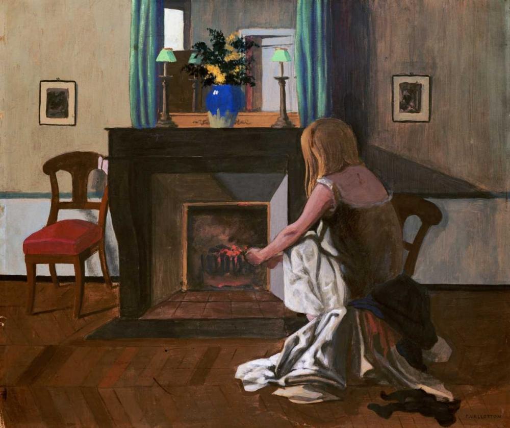 Interior With a Woman In a Shirt Vallotton, Felix 90653