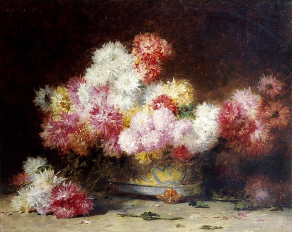 Chrysanthemum and Other Flowers In a Bowl Zo, Achille 90680