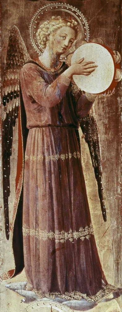Angel With Tambourine Angelico, Fra 90697