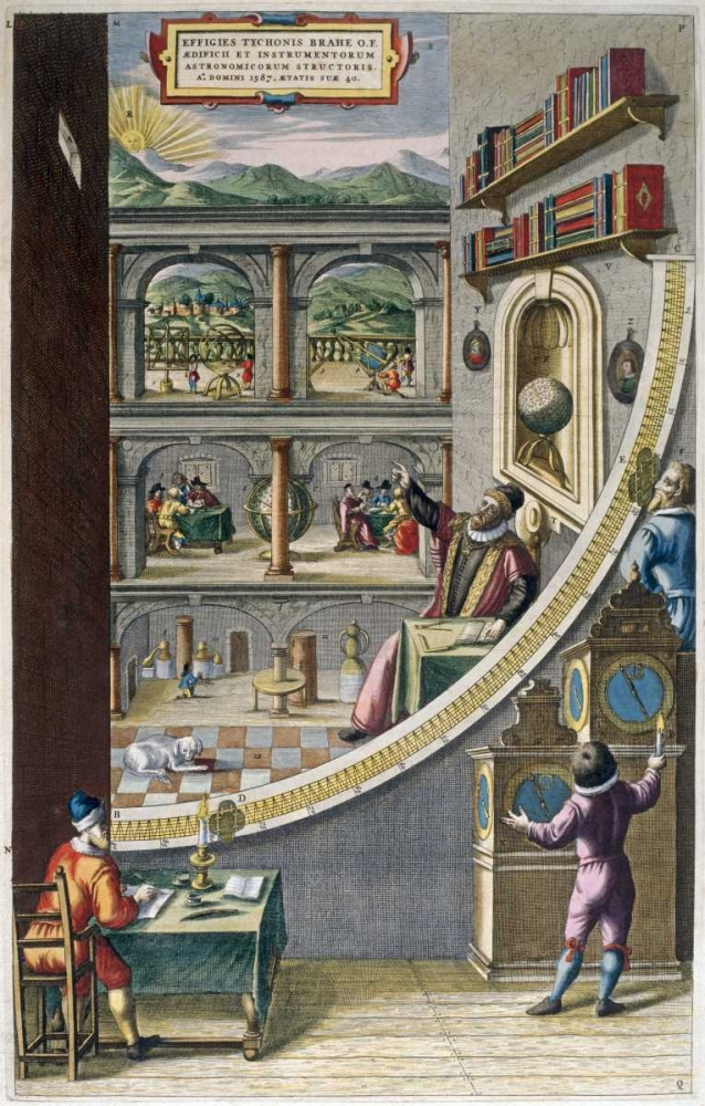 Tycho Brahe and Others With Astronomical Instruments Blaeu, Joan 90754