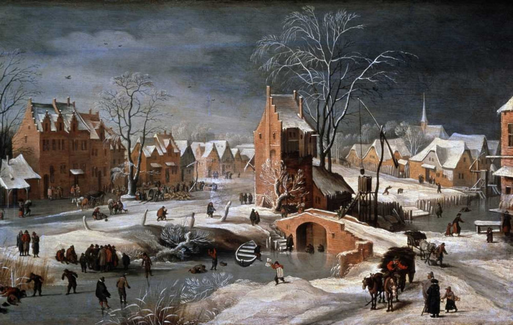 Winter Scene With Ice Skaters and Birds Bruegel, Pieter the Younger 90790