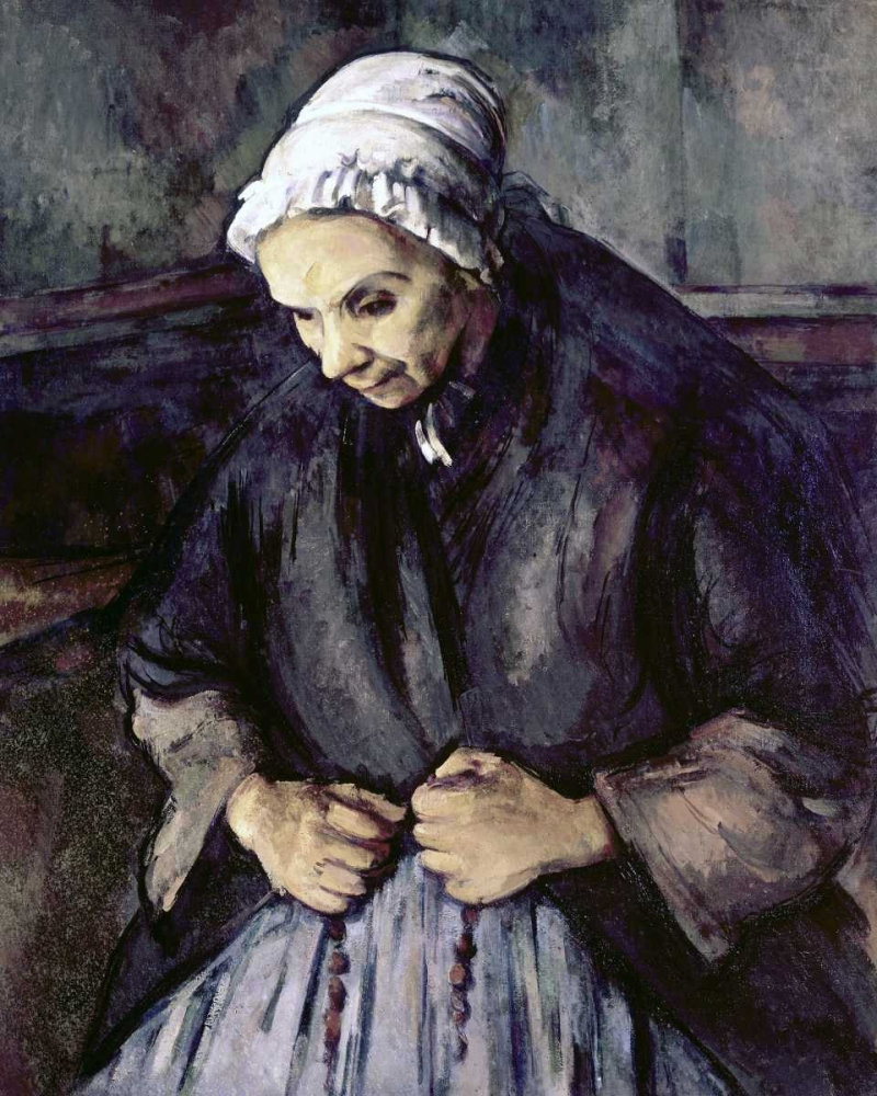 An Old Woman With a Rosary Cezanne, Paul 90825