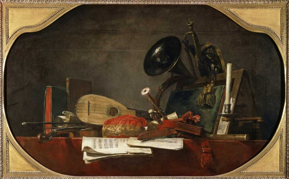 Attributes of Music Chardin, Jean-Baptiste-Simeon 90841