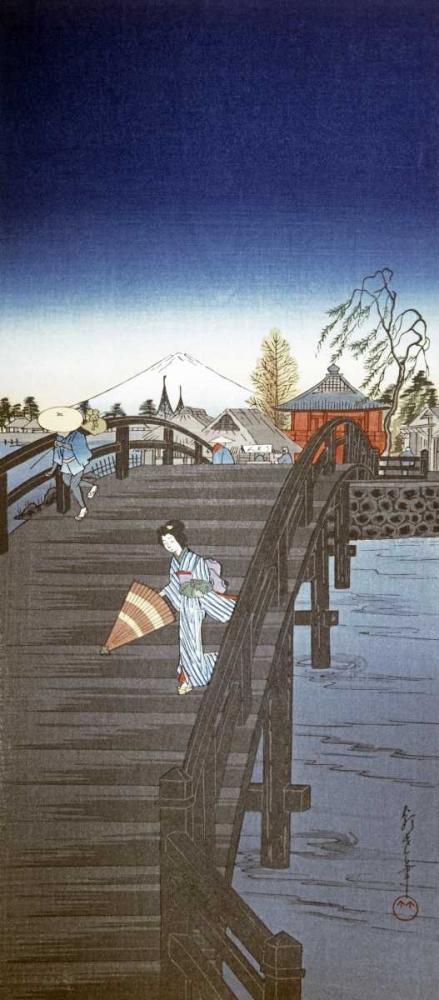 Japanese Print - Yedo River In Tokyo Chowka 90845
