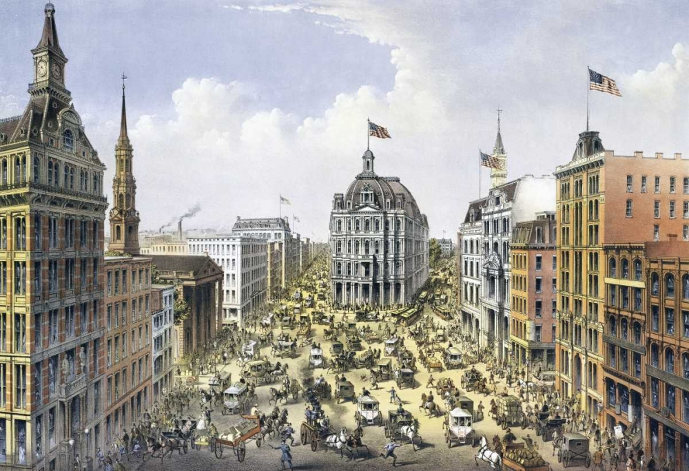 Broadway New York Currier and Ives 90870