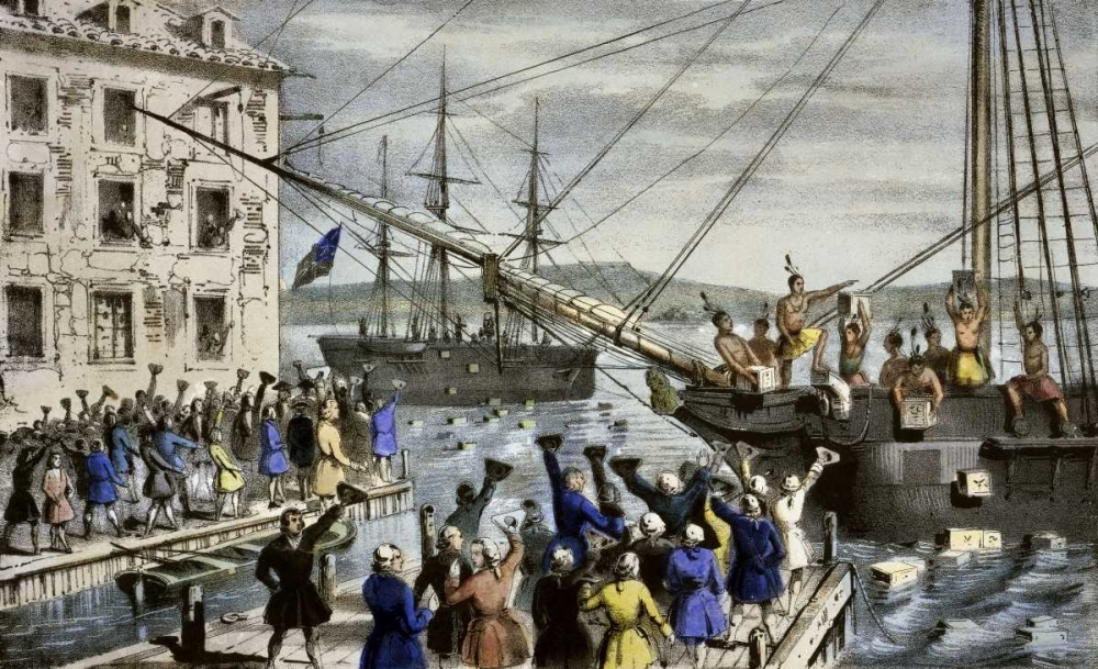 Destruction of Tea at Boston Harbor Currier and Ives 90874