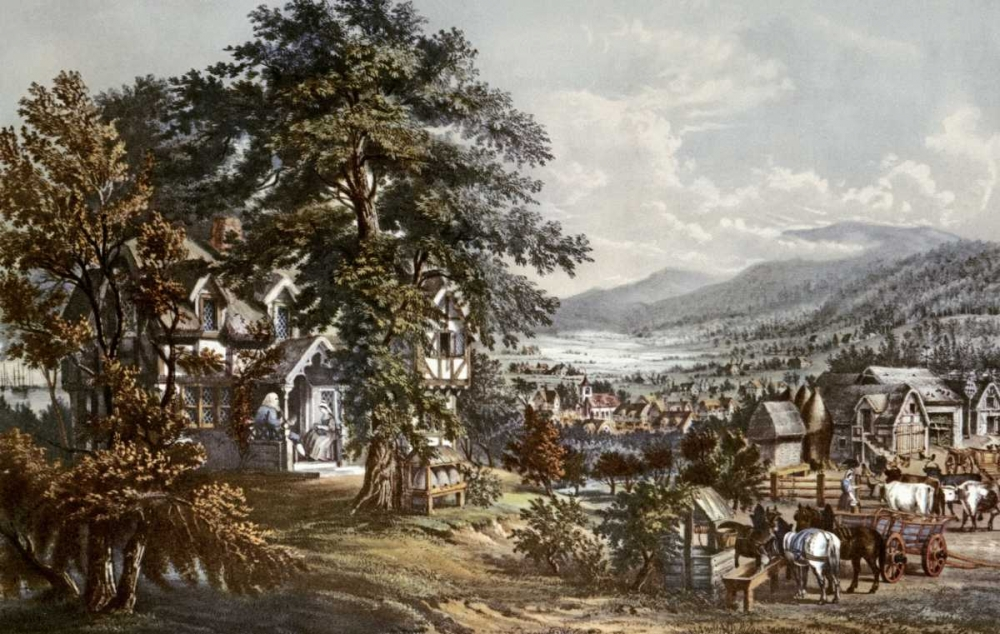 Home of Evangeline-Acadian Land Currier and Ives 90877