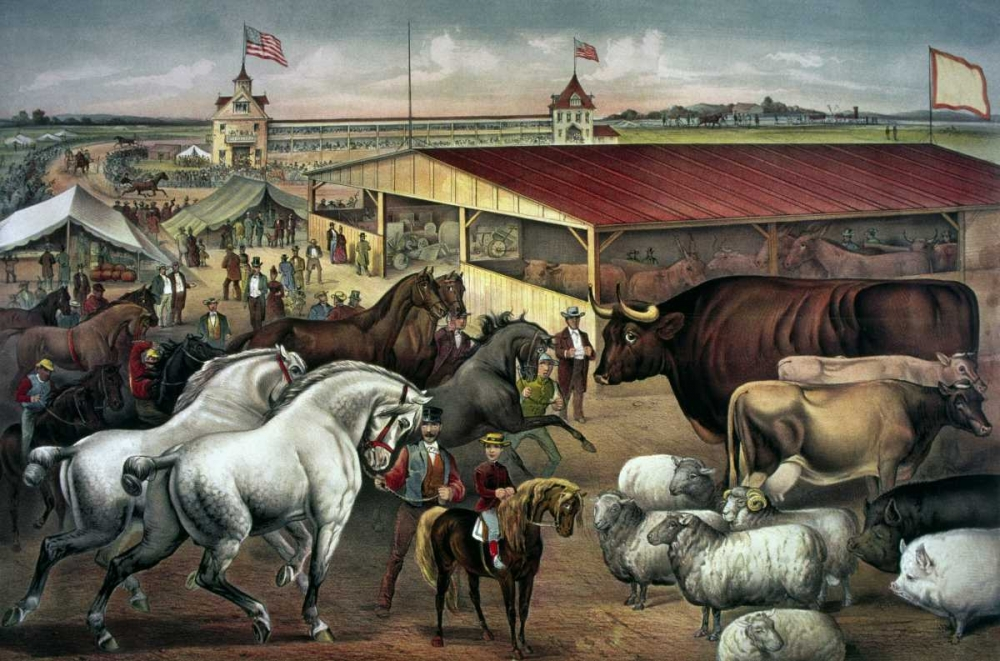 Sights at The Fair Ground Currier and Ives 90893