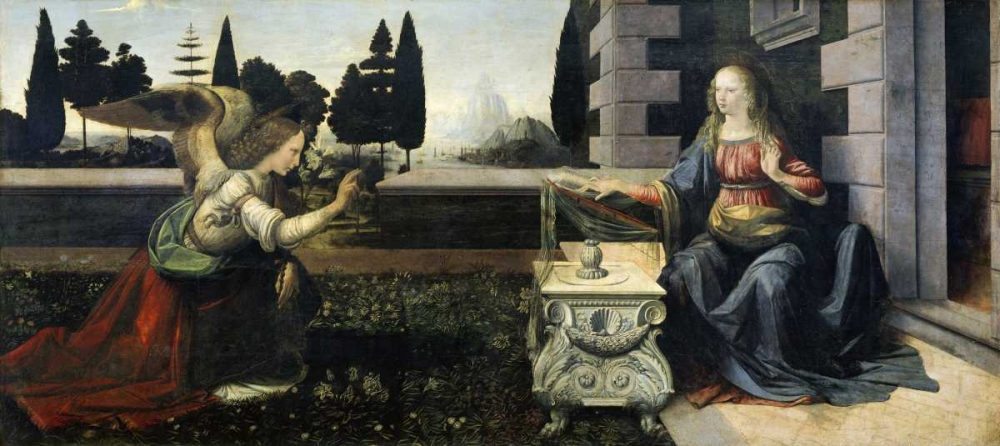Annunciation Da Vinci, Leonardo 90910
