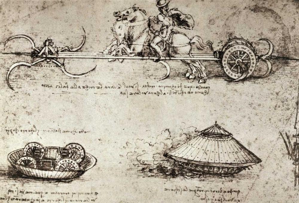 Military Inventions Sketches Da Vinci, Leonardo 90920