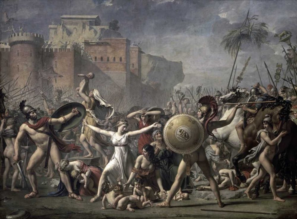 The Battle of The Sabines David, Jacques-Louis 90932