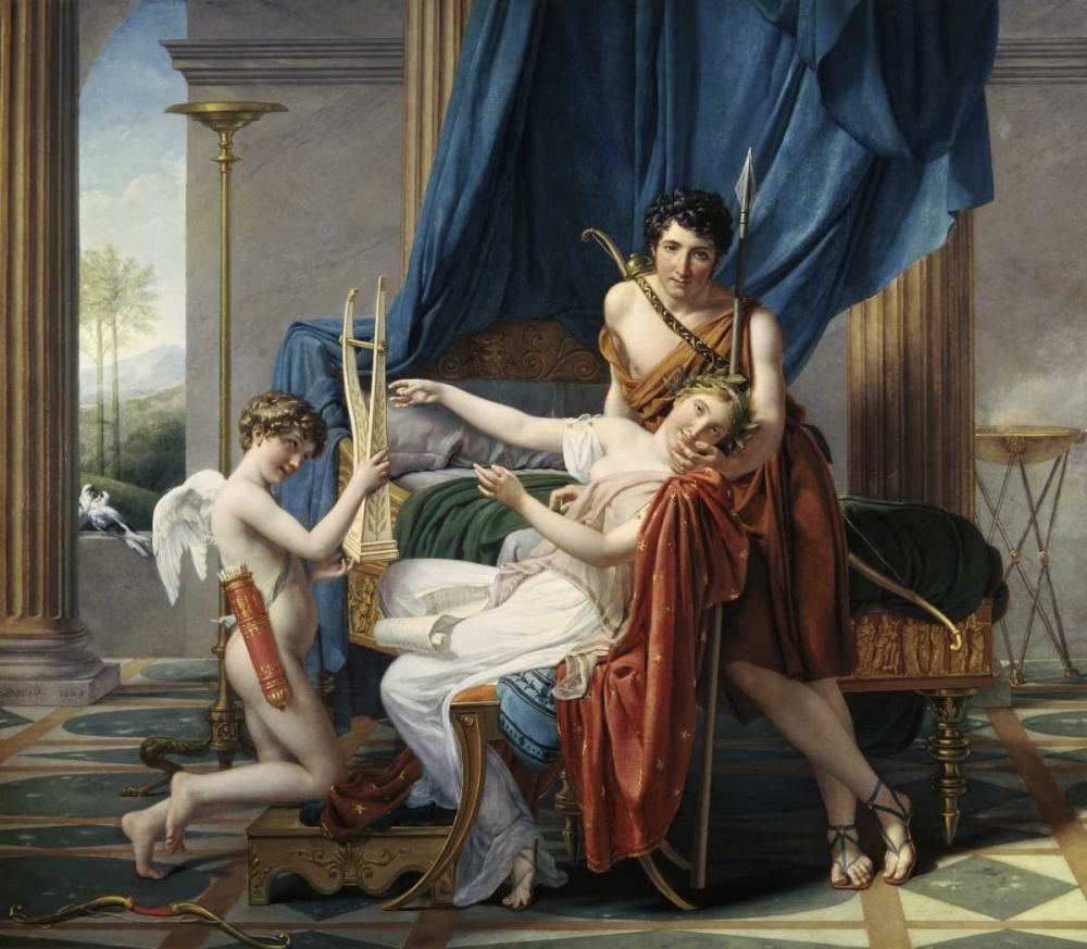 Sappho and Phaon David, Jacques-Louis 90936