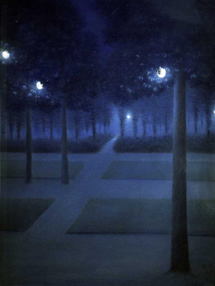Night In The Park Royal, Brussels De Nuncques, William Degouve 90970