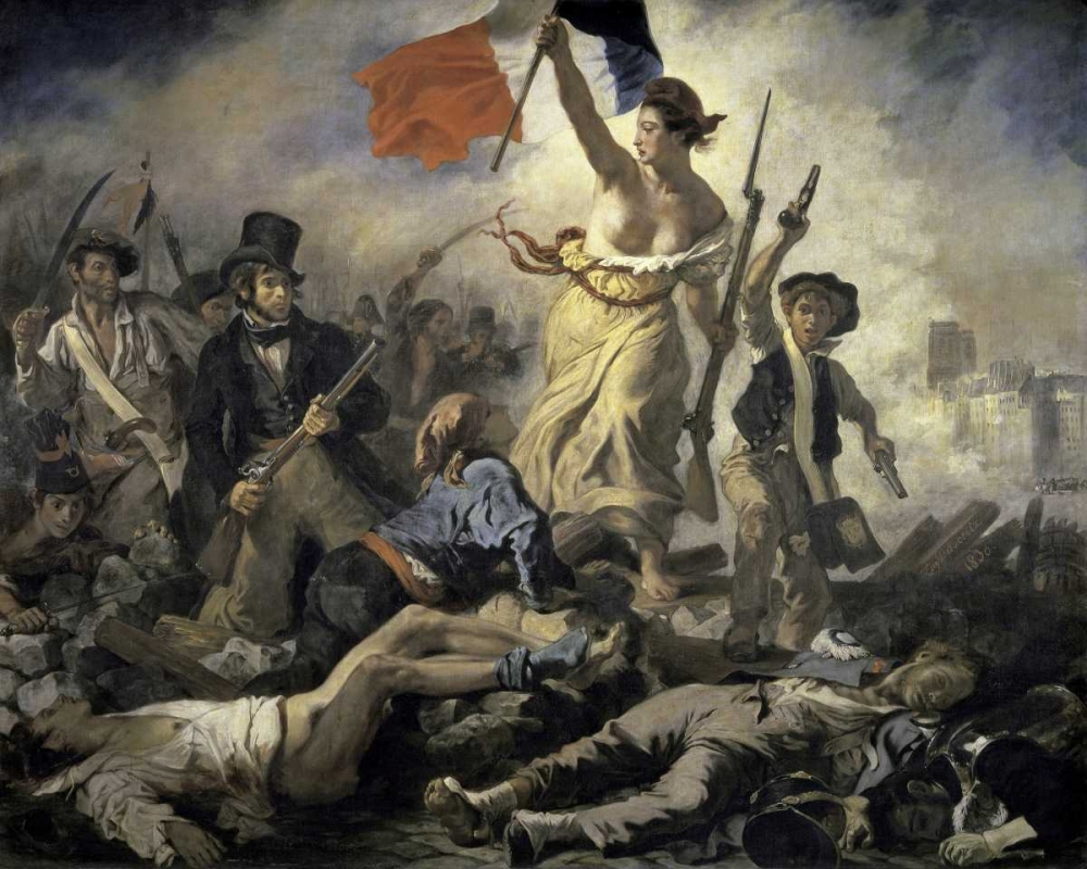 Liberty Leading the People Delacroix, Eugene 90973
