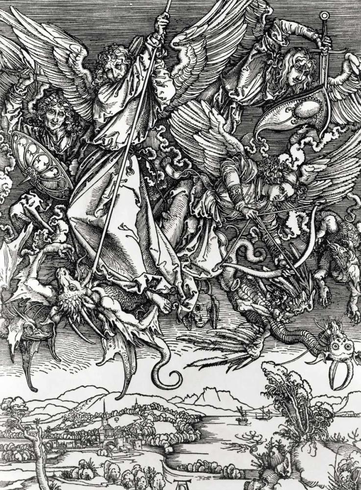St. Michael Fighting the Dragon Durer, Albrecht 90990