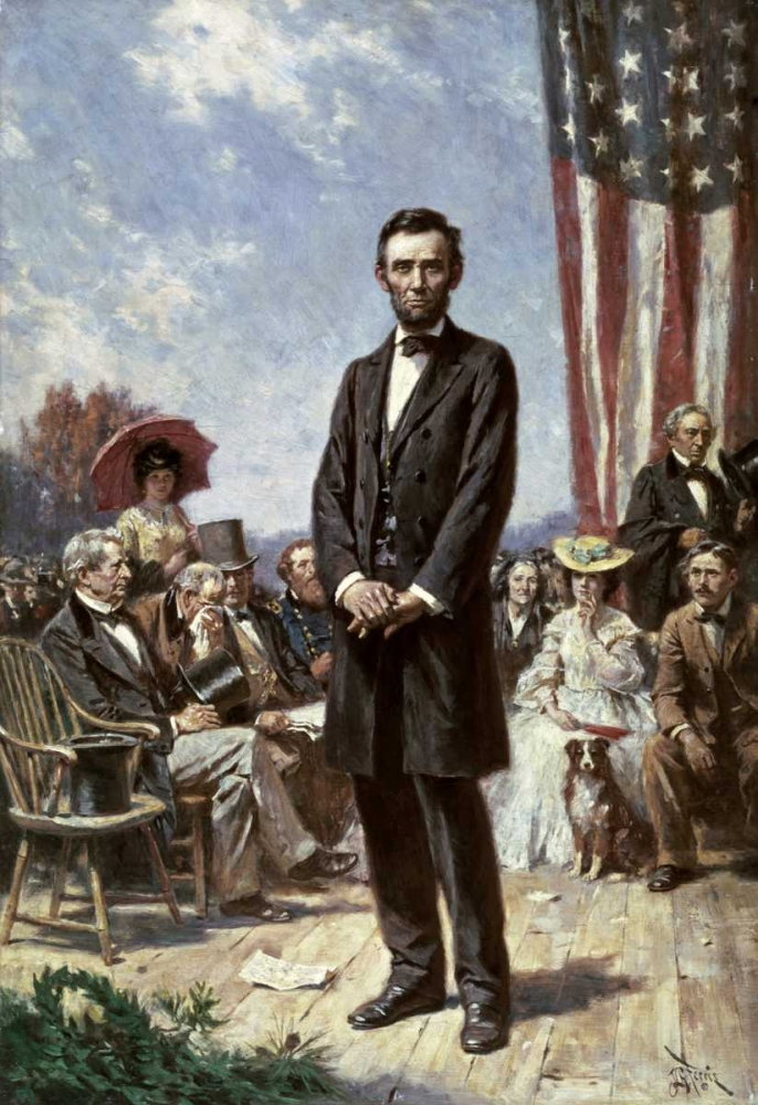 The Gettysburg Address Ferris, Jean Leon Gerome 91022