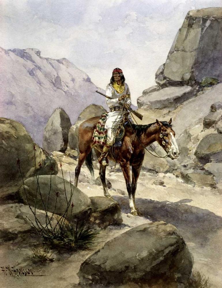 Indian On Horseback Hansen, Herman Wendelborg 91131