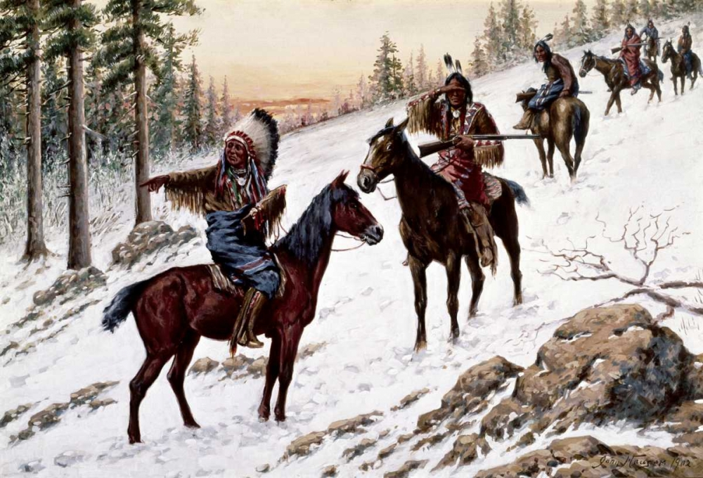 Indians On The Trail Hauser, John 91141