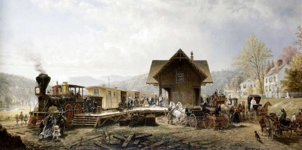 Railroad Arriving, Stratford, Ct. Henry, Edward Lamson 91147
