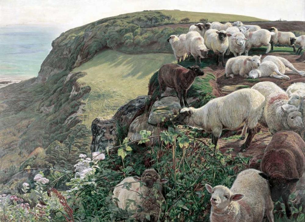 Our English Coasts - Strayed Sheep Hunt, William Holman 91182