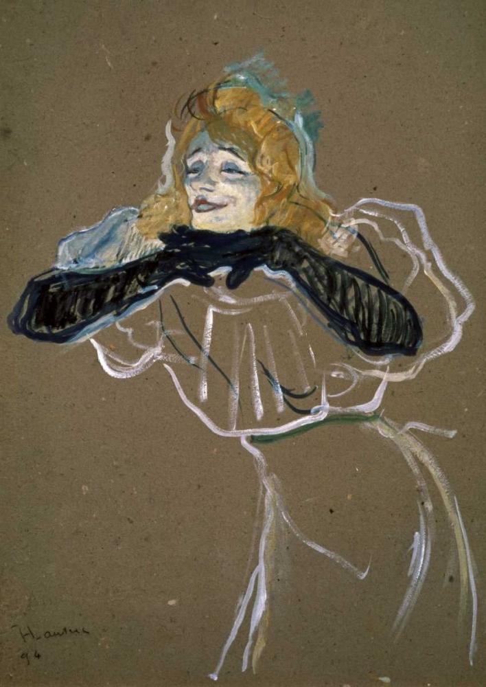 La Chanteuse: Yvette Gilbert Toulouse-Lautrec, Henri 91204
