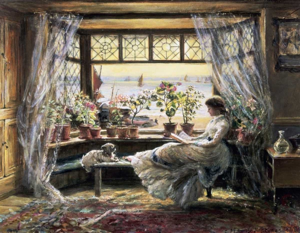 Reading by the Window, Hastings Lewis, Charles James 91224
