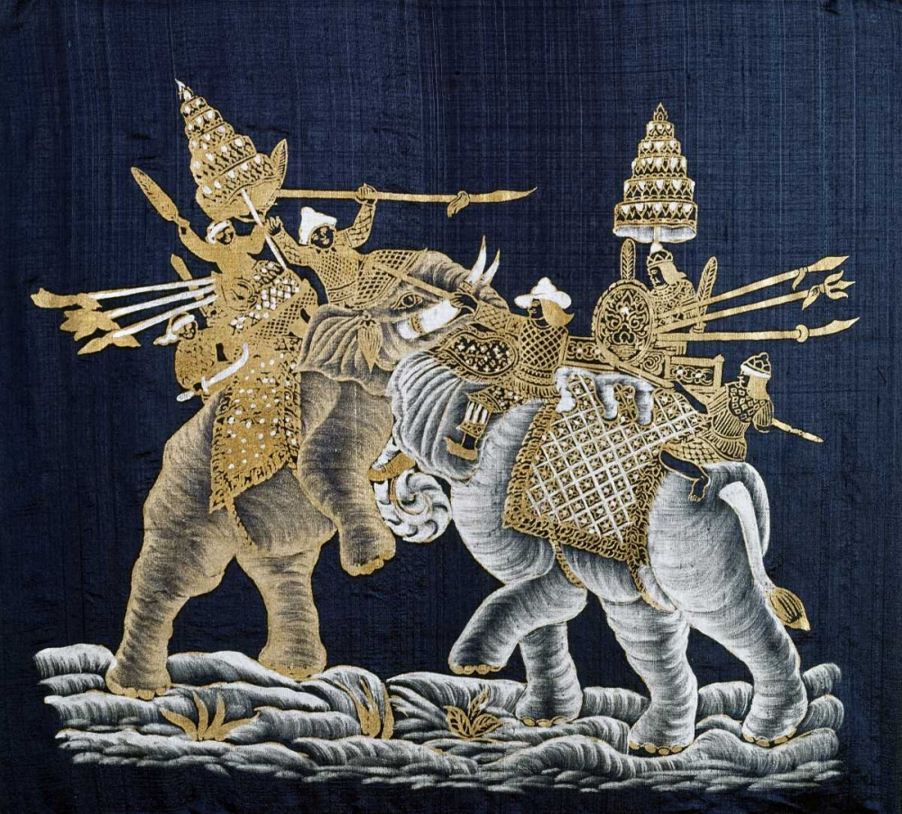 Duelling War Elephants Limatibul, Surint 91228
