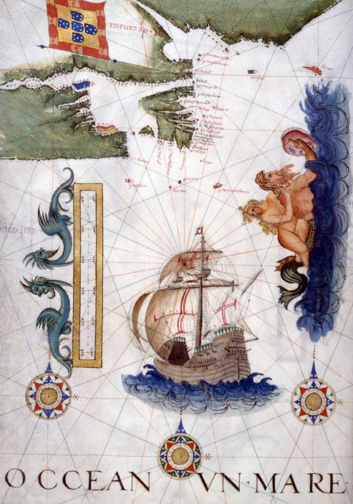 Portolan Atlas Illumination Lopes, Sebastiano 91232
