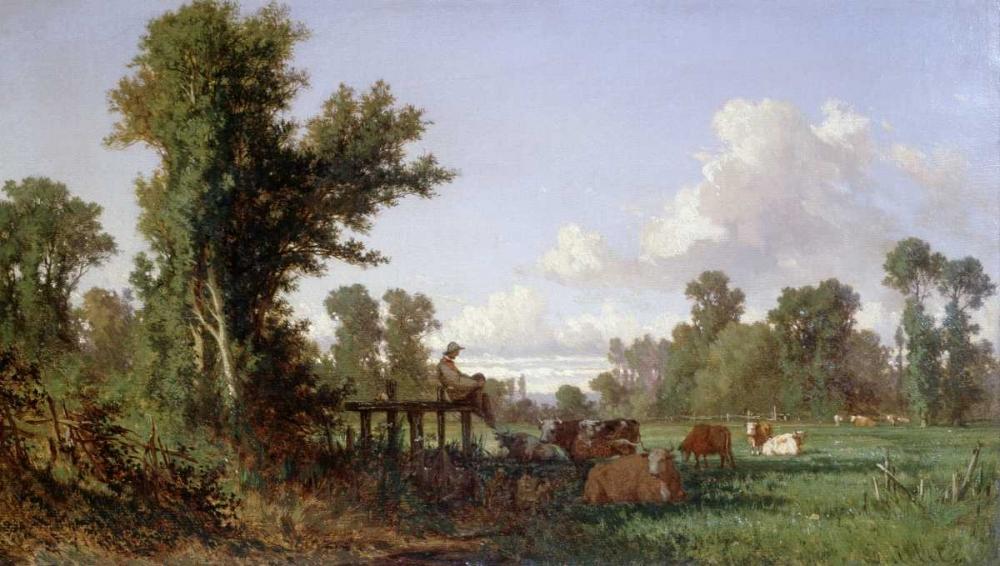 Wooded Landscape Millet, Jean-Francois 91291