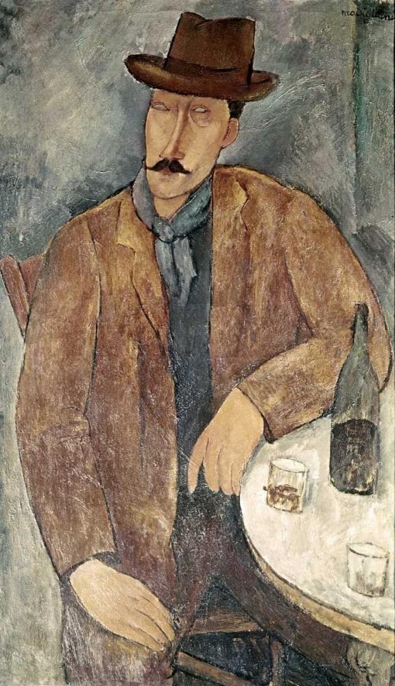 Man With a Wine Glass Modigliani, Amedeo 91299