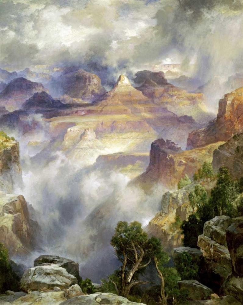 Canyon Mists, Zoroaster Peak, Grand Canyon Moran, Thomas 91384