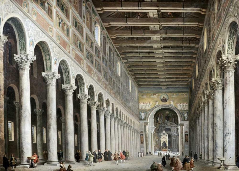 Interior of San Paolo Fuore Le Mure, Rome Panini, Giovanni Paolo 91416