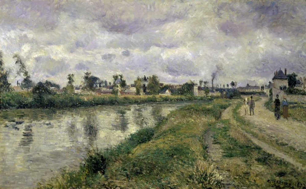 The Rivers Edge Pissarro, Camille 91440
