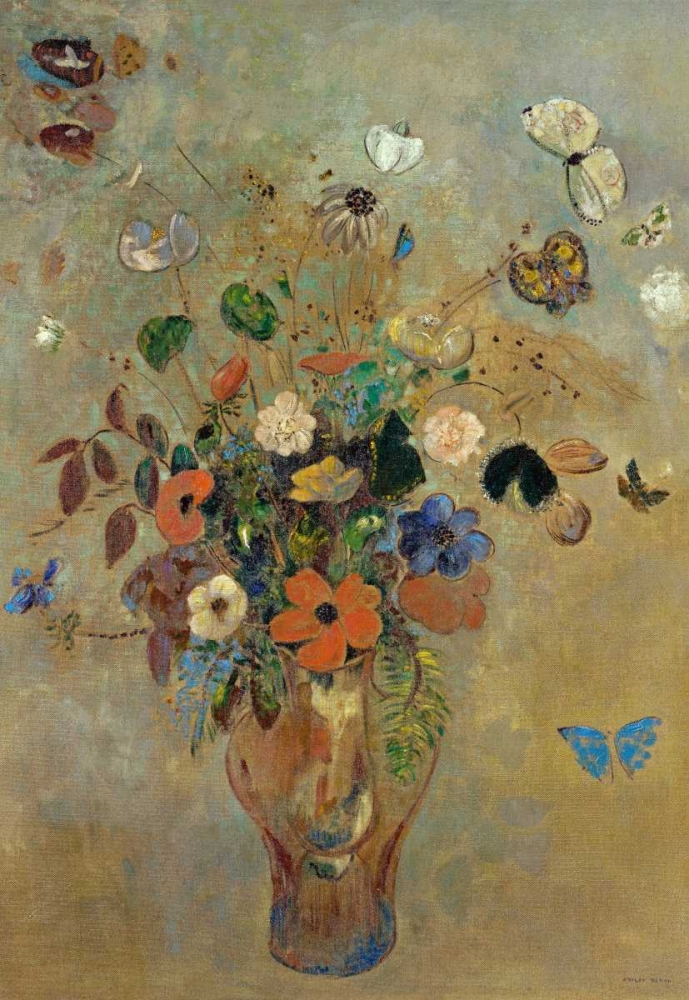 Bouquet of Flowers with Butterflies Redon, Odilion 91469