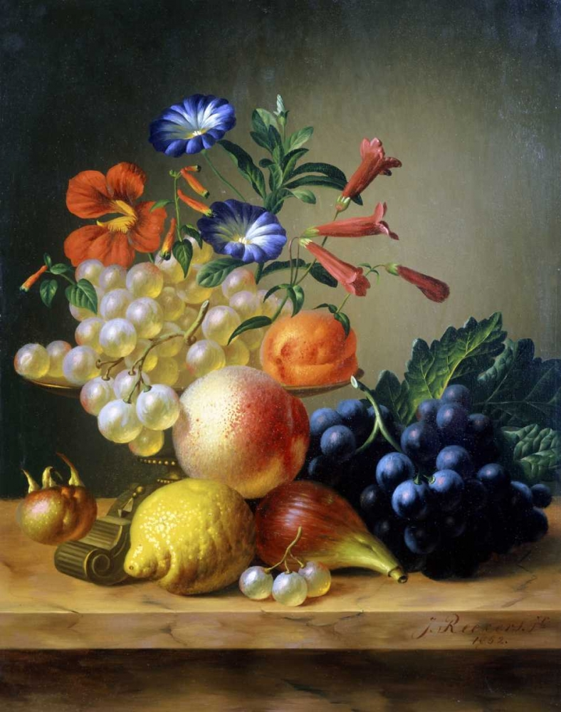 Grapes, a Lemon, a Fig and other Fruit Reekers, Johannes 91487