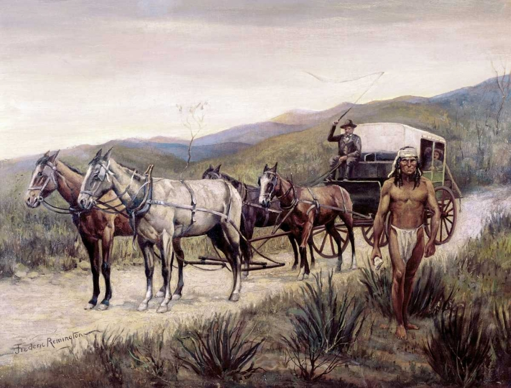Halted Stagecoach Remington, Frederic 91503