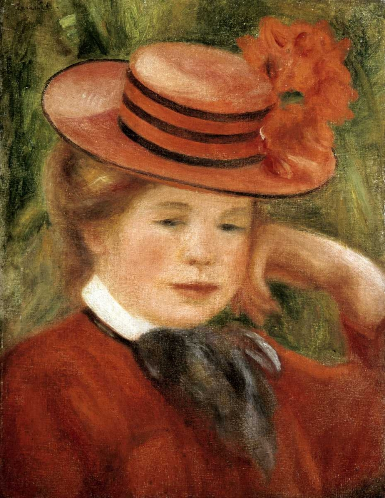 Girl with a Red Hat Renoir, Pierre-Auguste 91517