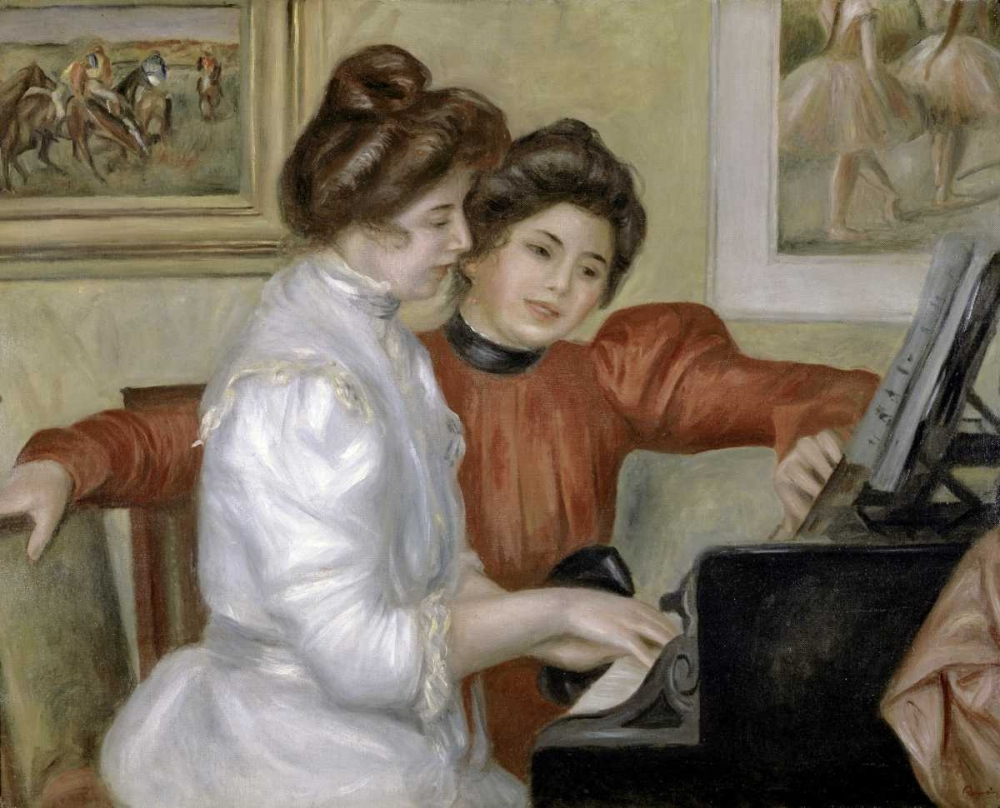 Yvonne and Christine Lerolle at the Piano, 1897-1898 Renoir, Pierre-Auguste 91541