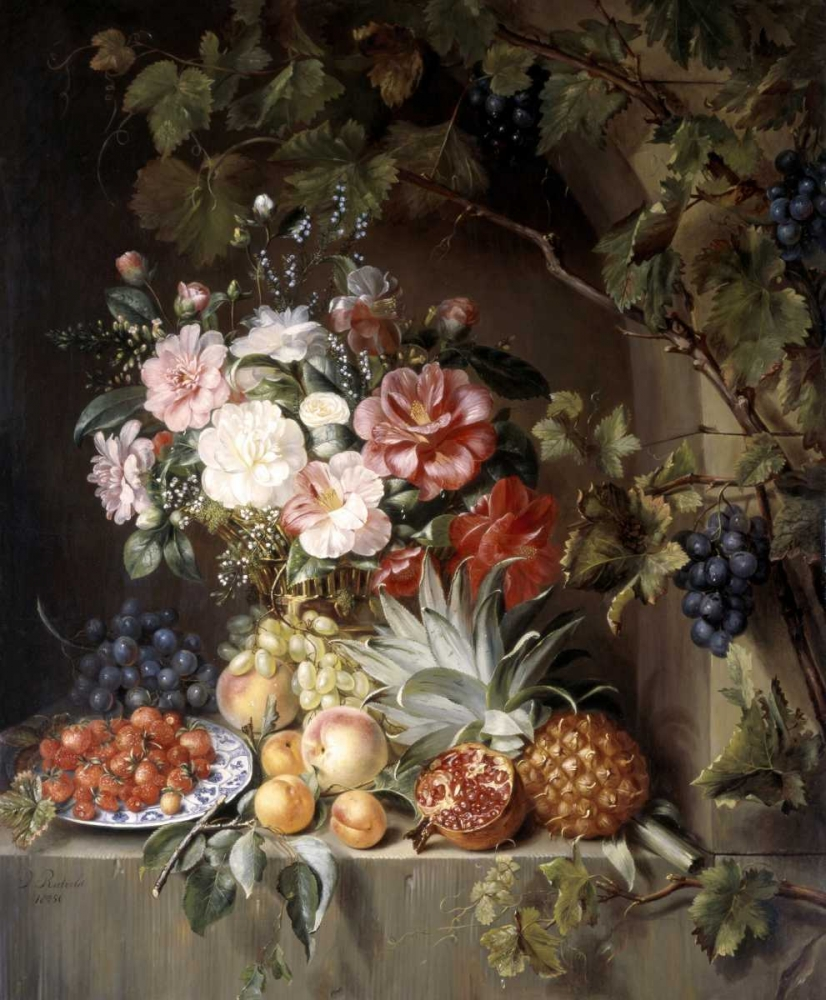 Still Life with a Basket of Flowers Rietveld, Antonie 91543
