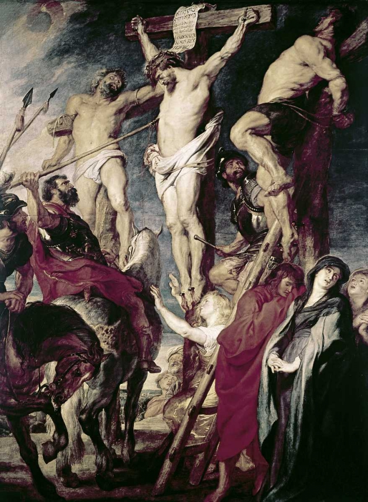 Christ On The Cross Between The Two Thieves Rubens, Peter Paul 91564