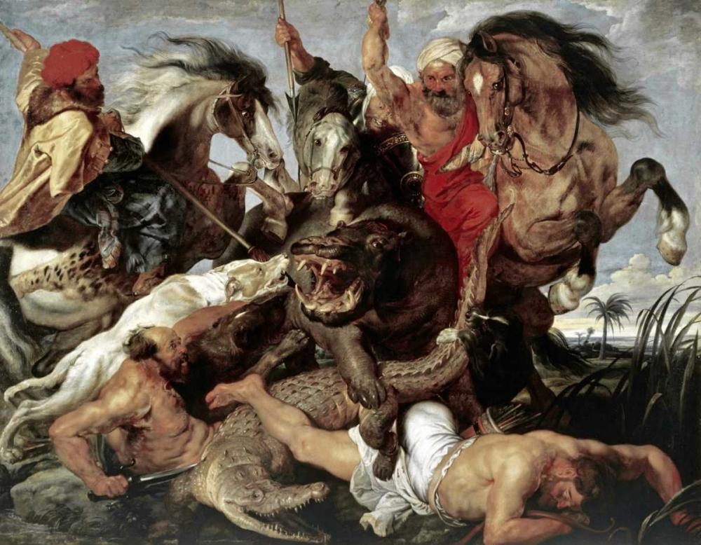 Hippo Hunt Rubens, Peter Paul 91566