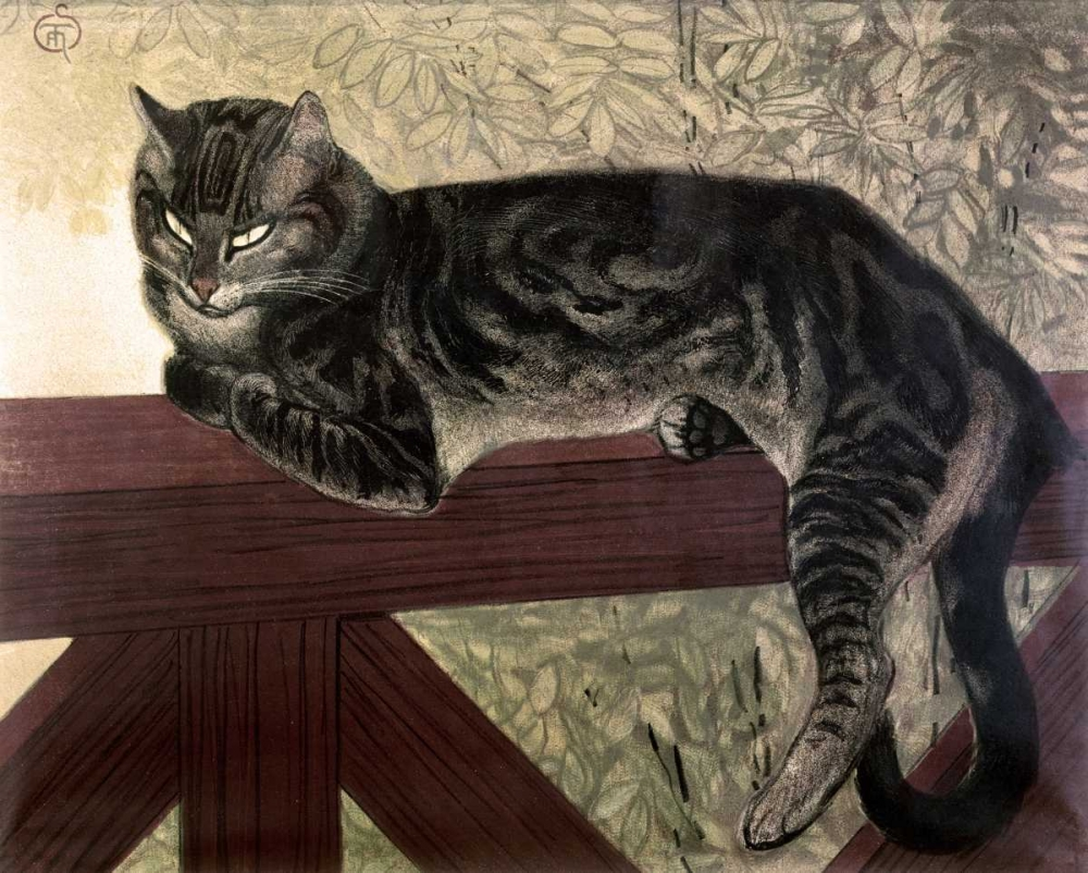 Cat On The Balustrade Steinlen, Theophile 91615