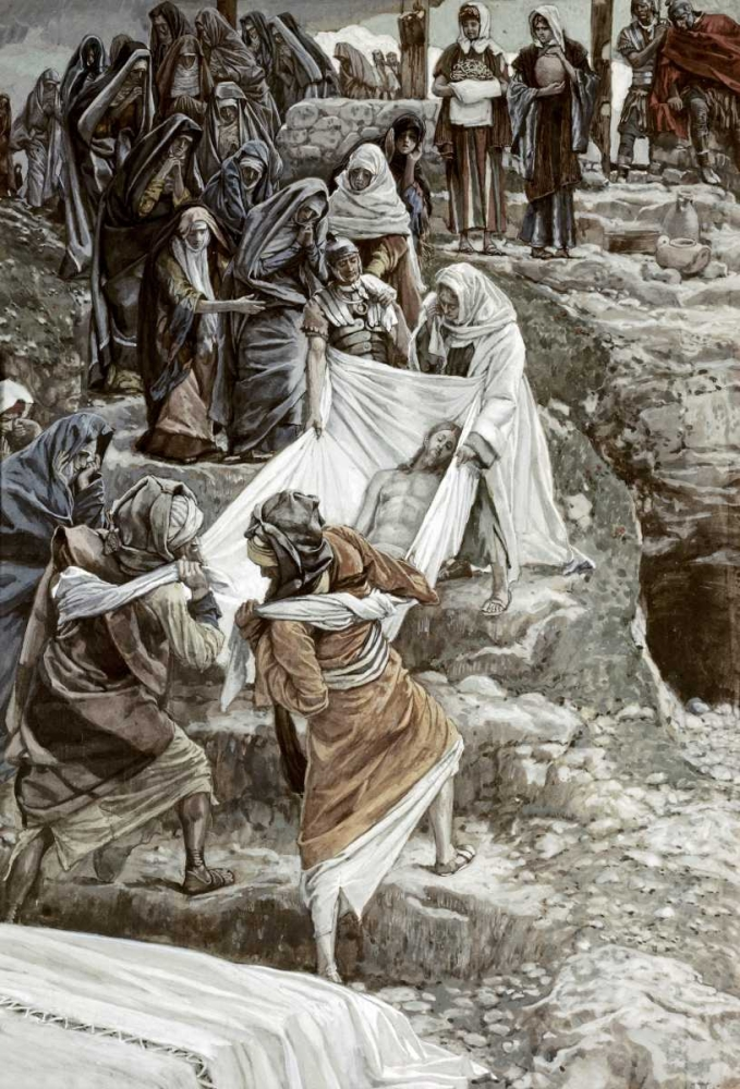 Body of Jesus Carried To The Stone of Anointing Tissot, James Jacques 91630