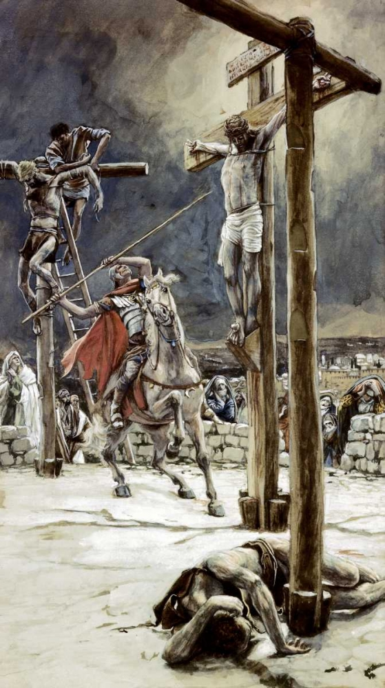 One of The Soldiers With a Spear Pierces His Side Tissot, James Jacques 91666