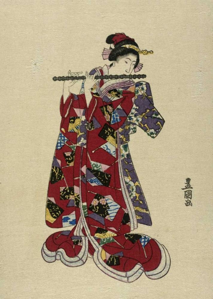 Yokobue - Seven Hole Chinese Flute Toyokuni, Utagawa 91697